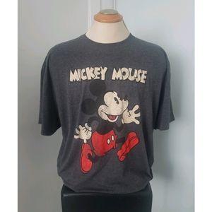 Disney Mickey Mouse Gray Men's Tshirt